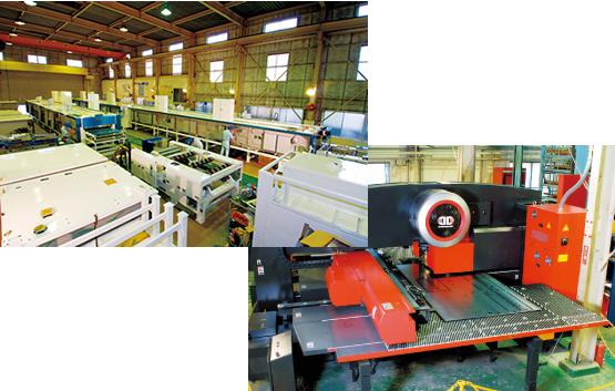 徹底した内製化により、効率的でハイクオリティな生産ラインを実現する自社工場